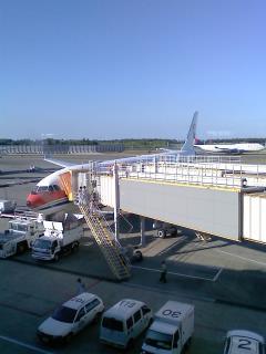 現在地、成田空港